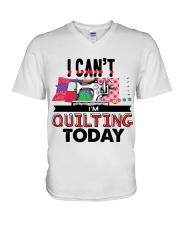 Quilting V-Neck T-Shirt tile