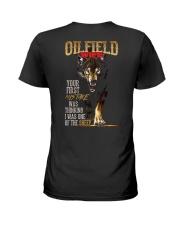 OILFIELD MAN'S  WIFE  - I'M THE WOLF   Ladies T-Shirt thumbnail