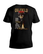 OILFIELD MAN'S  WIFE  - I'M THE WOLF   V-Neck T-Shirt thumbnail