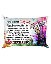 GIFT FOR MECHANIC'S GIRLFRIEND- PREMIUM Rectangular Pillowcase back