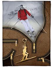 """Skiing - Premium Large Fleece Blanket - 60"""" x 80"""" front"""