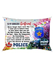 GIFT FOR A POLICE GIRLFRIEND - PREMIUM Rectangular Pillowcase front
