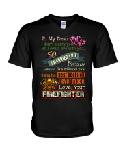 FIREFIGHTER'S WIFE V-Neck T-Shirt thumbnail