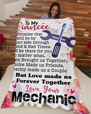 "Mechanic's Fiancée- PREMIUM Large Fleece Blanket - 60"" x 80"" aos-coral-fleece-blanket-60x80-lifestyle-front-04"
