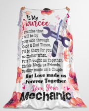 "Mechanic's Fiancée- PREMIUM Large Fleece Blanket - 60"" x 80"" aos-coral-fleece-blanket-60x80-lifestyle-front-10"