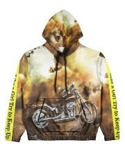 Biker Women's All Over Print Hoodie front