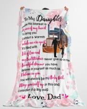 """Trucker's Daughter Premium Large Fleece Blanket - 60"""" x 80"""" aos-coral-fleece-blanket-60x80-lifestyle-front-10"""