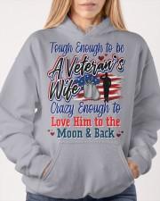 Veteran's Wife Hooded Sweatshirt apparel-hooded-sweatshirt-lifestyle-front-85