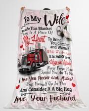 "Trucker's Wife  - Black Friday Sale Large Fleece Blanket - 60"" x 80"" aos-coral-fleece-blanket-60x80-lifestyle-front-10"