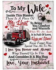 "Trucker's Wife  - Black Friday Sale Large Fleece Blanket - 60"" x 80"" front"