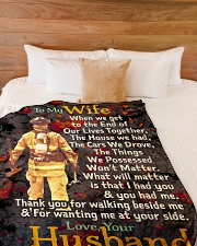 """Firefighter's Wife - Black Friday Sale Large Fleece Blanket - 60"""" x 80"""" aos-coral-fleece-blanket-60x80-lifestyle-front-02"""
