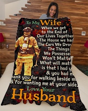 """Firefighter's Wife - Black Friday Sale Large Fleece Blanket - 60"""" x 80"""" aos-coral-fleece-blanket-60x80-lifestyle-front-04"""