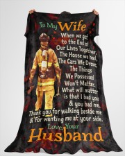 """Firefighter's Wife - Black Friday Sale Large Fleece Blanket - 60"""" x 80"""" aos-coral-fleece-blanket-60x80-lifestyle-front-10"""