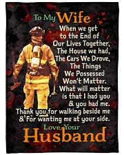 "Firefighter's Wife - Black Friday Sale Large Fleece Blanket - 60"" x 80"" front"