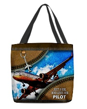 PILOT'S GIRL All-over Tote back