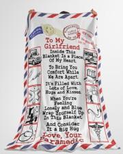 "Paramedic's Girlfriend  Premium Large Fleece Blanket - 60"" x 80"" aos-coral-fleece-blanket-60x80-lifestyle-front-10"