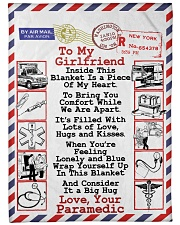 """Paramedic's Girlfriend  Premium Large Fleece Blanket - 60"""" x 80"""" front"""