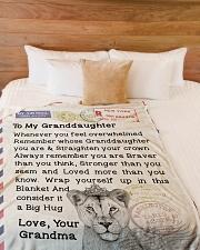 "Gift for GrandDaughter  Premium Large Fleece Blanket - 60"" x 80"" aos-coral-fleece-blanket-60x80-lifestyle-front-02"