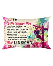 GIFT FOR A LINEMAN'S WIFE - PREMIUM Rectangular Pillowcase back