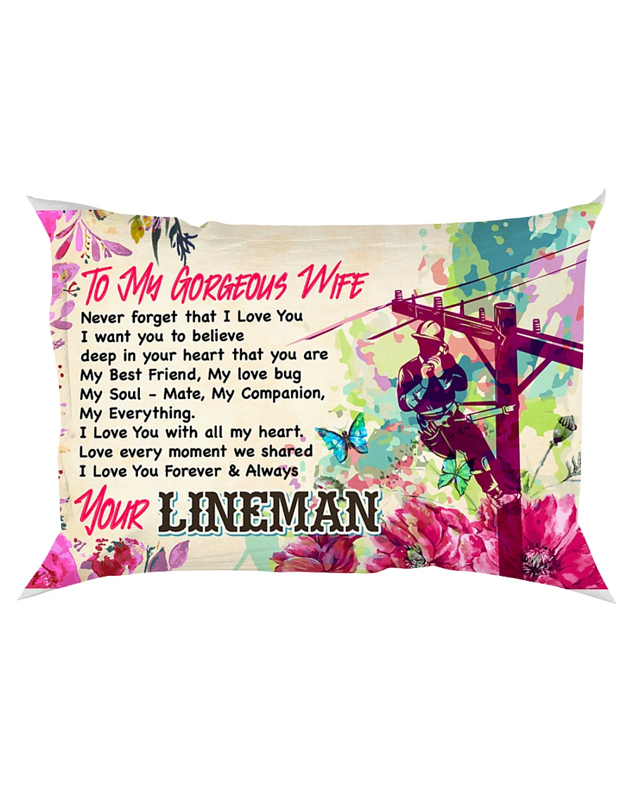 GIFT FOR A LINEMAN'S WIFE - PREMIUM Rectangular Pillowcase