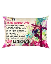 GIFT FOR A LINEMAN'S WIFE - PREMIUM Rectangular Pillowcase front