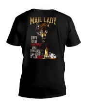 MAIL LADY - I'M THE WOLF   V-Neck T-Shirt thumbnail