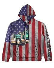 Trucker Women's All Over Print Hoodie front
