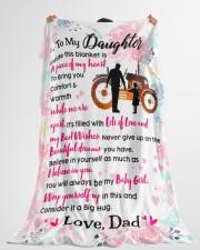 "Farmer's Daughter  - Black Friday Sale Large Fleece Blanket - 60"" x 80"" aos-coral-fleece-blanket-60x80-lifestyle-front-10"