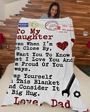 "Mechanic's Daughter  Premium Large Fleece Blanket - 60"" x 80"" aos-coral-fleece-blanket-60x80-lifestyle-front-04"