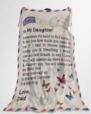 """Gift For Daughter  Premium Large Fleece Blanket - 60"""" x 80"""" aos-coral-fleece-blanket-60x80-lifestyle-front-10"""