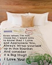 "Farmer's Girl  Premium Large Fleece Blanket - 60"" x 80"" aos-coral-fleece-blanket-60x80-lifestyle-front-02"