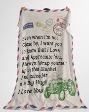 "Farmer's Girl  Premium Large Fleece Blanket - 60"" x 80"" aos-coral-fleece-blanket-60x80-lifestyle-front-10"