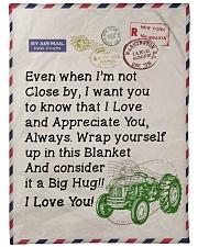 """Farmer's Girl  Premium Large Fleece Blanket - 60"""" x 80"""" front"""