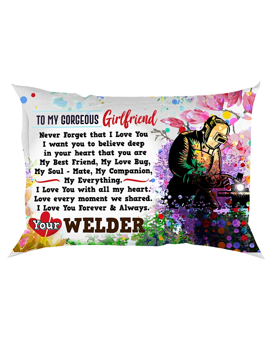 GIFT FOR A WELDER'S  GIRLFRIEND- PREMIUM Rectangular Pillowcase