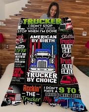 "Trucker Premium Large Fleece Blanket - 60"" x 80"" aos-coral-fleece-blanket-60x80-lifestyle-front-04"