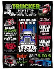 """Trucker Premium Large Fleece Blanket - 60"""" x 80"""" front"""