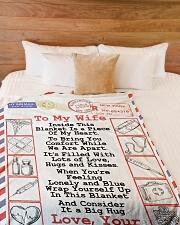 "Nurse's Wife  Premium Large Fleece Blanket - 60"" x 80"" aos-coral-fleece-blanket-60x80-lifestyle-front-02"