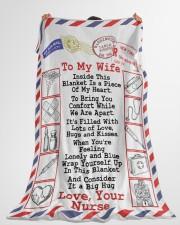 "Nurse's Wife  Premium Large Fleece Blanket - 60"" x 80"" aos-coral-fleece-blanket-60x80-lifestyle-front-10"