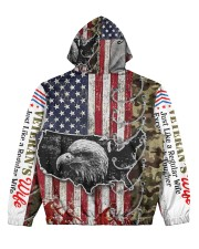 qq Women's All Over Print Hoodie back