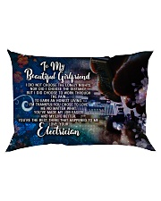 GIFT FOR AN ELECTRICIAN'S  GIRLFRIEND - PREMIUM Rectangular Pillowcase back