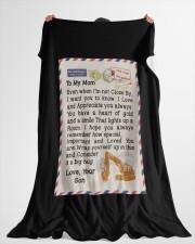"""HEO's Mom Large Fleece Blanket - 60"""" x 80"""" aos-coral-fleece-blanket-60x80-lifestyle-front-10"""