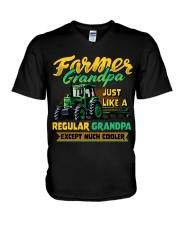 Farmer Grandpa V-Neck T-Shirt thumbnail