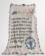 """Mechanic's Wife  Premium Large Fleece Blanket - 60"""" x 80"""" aos-coral-fleece-blanket-60x80-lifestyle-front-10"""