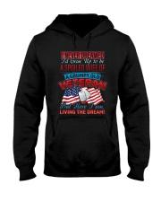 Old Veteran's Wife Hooded Sweatshirt front