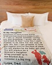 """Veteran's Daughter Large Fleece Blanket - 60"""" x 80"""" aos-coral-fleece-blanket-60x80-lifestyle-front-02"""