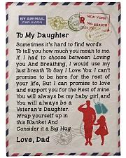 """Veteran's Daughter Large Fleece Blanket - 60"""" x 80"""" front"""