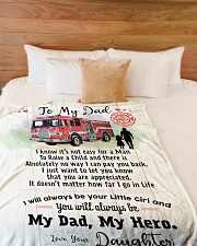 """Gift for a Firefighter-Cyber Monday sale Large Fleece Blanket - 60"""" x 80"""" aos-coral-fleece-blanket-60x80-lifestyle-front-02"""