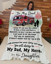 """Gift for a Firefighter-Cyber Monday sale Large Fleece Blanket - 60"""" x 80"""" aos-coral-fleece-blanket-60x80-lifestyle-front-04"""