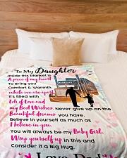 "Trucker's Daughter - Black Friday Sale Large Fleece Blanket - 60"" x 80"" aos-coral-fleece-blanket-60x80-lifestyle-front-02"