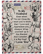"GIFT FOR HUSBAND- PREMIUM Large Fleece Blanket - 60"" x 80"" front"